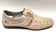 Мужские туфли летние кожа цвет: бежевый, коричневый Uk0450