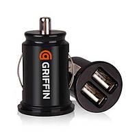 АЗУ Griffin PowerJolt c кабелем Lightning для iPhone5 2 USB black