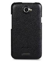 Melkco Snap leather cover for HTC One black