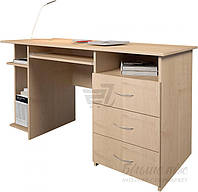 Компьютерный стол светлый с боковым выдвижными ящиками светлый