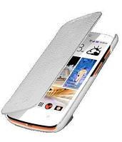 Melkco Book leather case for HTC Desire 500 white