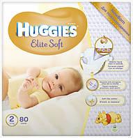 Подгузники Huggies Elite Soft Newborn 2 (4-7 кг) MEGA PACK, 80 шт.