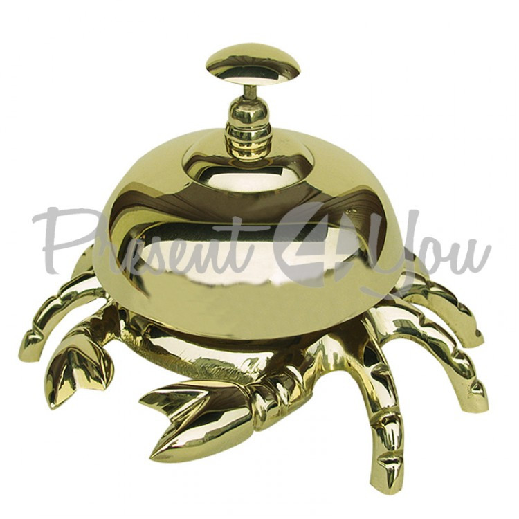 Морской сувенир звонок Краб, h-9 см.,d-13 см., арт 9257 Sea Club
