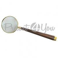 Морской сувенир лупа с деревянной ручкой, L-34 см., d-10 см., 9272 Sea Club