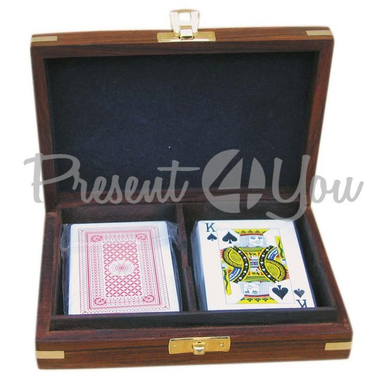 Морской сувенир набор 2 колоды карт, 15,5x11,5x4 см., 8018 Sea Club