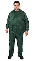 Полукомбинезон с курткой, ткань грета, темно-зеленый