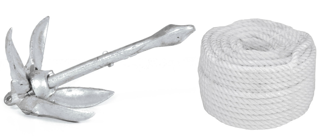 Комплект Якорь Складной 5lbs/2.3кг+ 30м 6мм белая