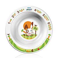 Маленькая тарелка с развивающим рисунком (белая) Avent 3931229