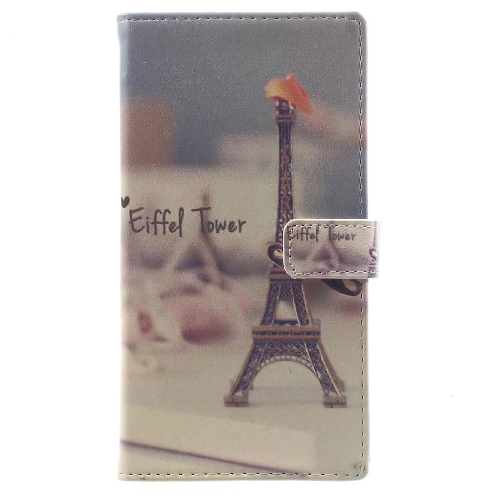 Чехол книжка для Sony Xperia XA1 G3112 боковой с отсеком для визиток, Эйфелева башня