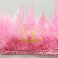 Тесьма перьевая(Петух) Цвет Pink Цена за 0.5м