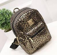 Экстравагантный элитный городской рюкзак золотой леопард. Хорошее качество. Доступная цена. Дешево Код: КГ1429