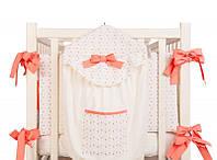 Карман на кроватку putti baby bird (розовый)