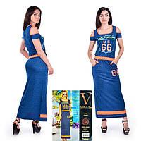 Женское летнее платье в пол. VOGUE 10261-R. Размер 44-46.