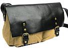 Сумка месенджер, почтальонка Shoulder Bag 5565, хаки с черным