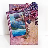 Романтическая фоторамка Рамка для фото ручной работы Подарки для любимой на день рождения, фото 1