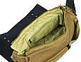 Сумка месенджер, почтальонка Shoulder Bag 5565, хаки с черным, фото 9