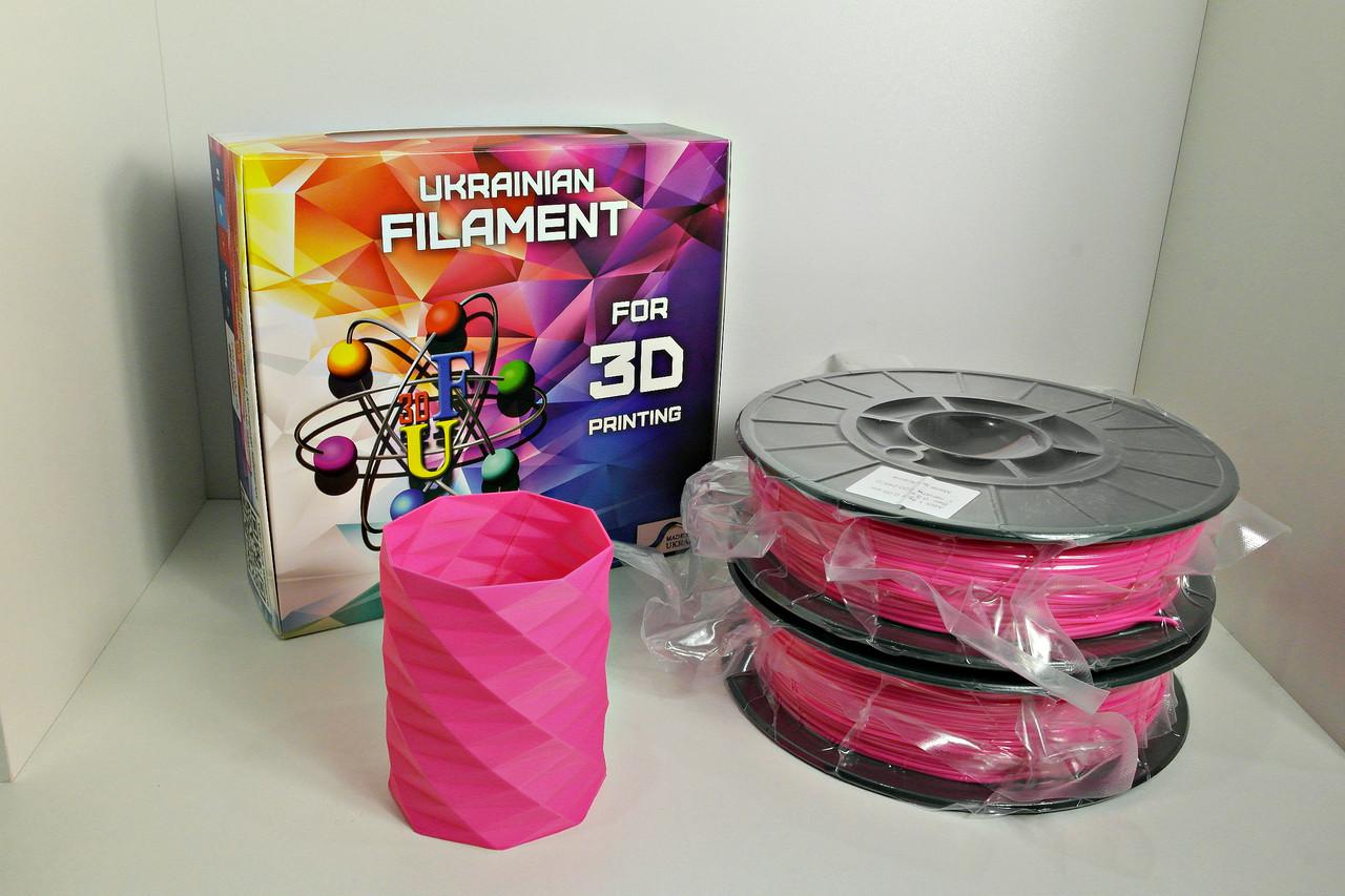 Нить ABS Premium (АБС) пластик для 3D принтера, Розовый (1.75 мм/0.5 кг)