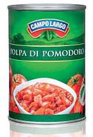 Кусочки очищенных помидоров Campo Largo polpa di pomodoro 400g