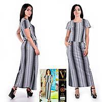 Женское летнее платье в пол. VOGUE 10071-R. Размер 44-46.