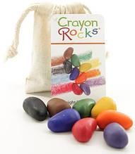Олівці-камінчики Crayon Rocks 8 кольорів в бавовняному мішечку