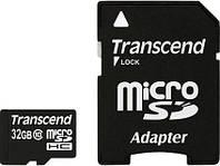 Transcend 32 GB microSDHC class 10 + SD Adapter