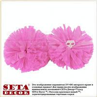 Розовые помпоны для танцев, чирлидинга круглые матовые