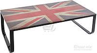 Стол журнальный стеклянный с принтом английский флаг