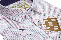 """Модная рубашка для мальчика фирмы """"Княжич"""" 100%-хлопок"""