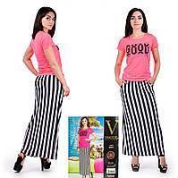 Женский комплект футболка с юбкой в пол. VOGUE 10037-R. Размер 44-46.