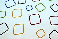 """Фланель """"квадраты разноцветные на белом 180см"""""""