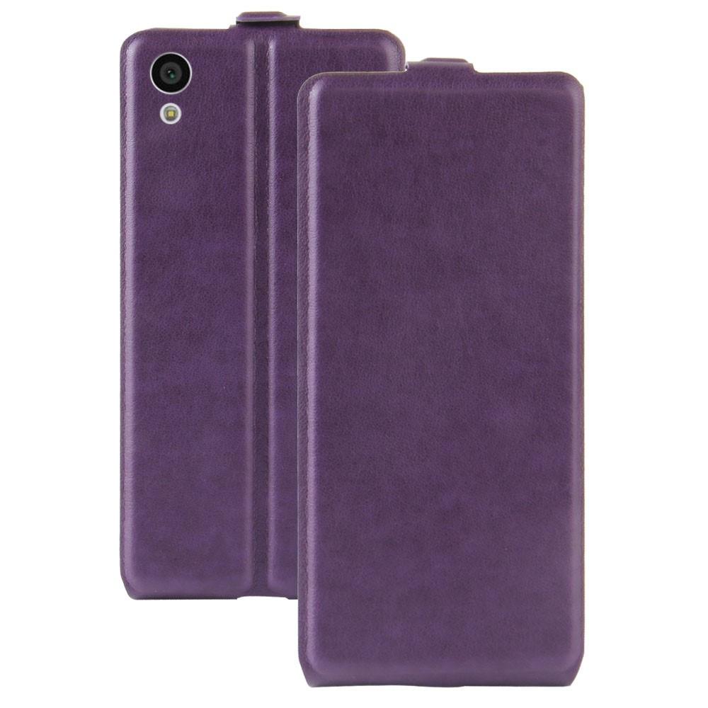 Чехол книжка для Sony Xperia XA1 G3112 вертикальный флип, Гладкая кожа, фиолетовый