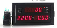 Вольтметр,амперметр,счетчик электроэнергии,активная/реативная мощность переменного напряжения 80-300VAC/100A
