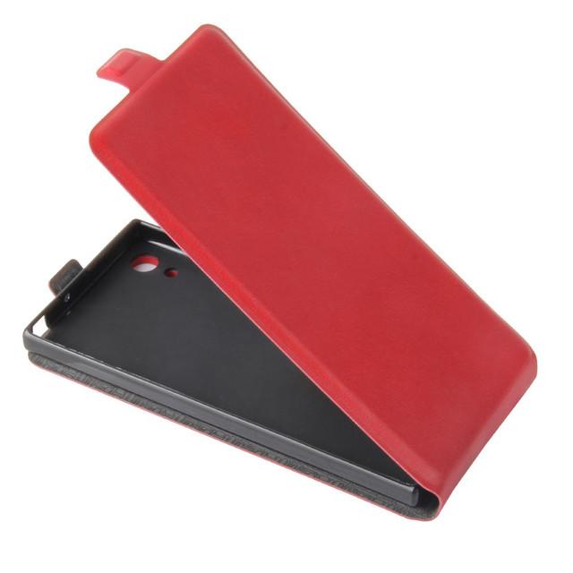 чехол флип Sony Xperia XA1 красный
