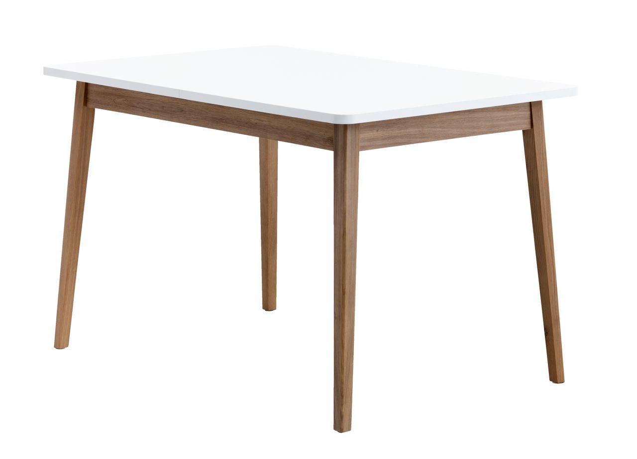 Стол обеденный белый с темными ножками 120 см