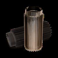Трубы-радиаторы для дымохода одностенные из нержавеющей стали
