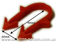 Скоба якорная для трубы теплый пол 40 мм х 20 мм