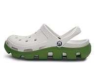Женские Crocs Duet Sport Clog  white-green