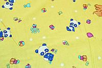 """Фланель """"панды на песочном  180см"""""""