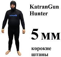 Гидрокостюм для подводной охоты KatranGun Hunter 5 мм; короткие штаны; нейлон/открытая пора, фото 1