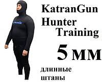 Гидрокостюм подводной охоты KatranGun Training 5 мм; штаны с лямками; нейлон/нейлон