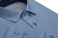 """Классическая синяя рубашка для мальчиков """"Княжич"""""""