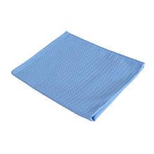 Полотенце кухонное вафельное голубое