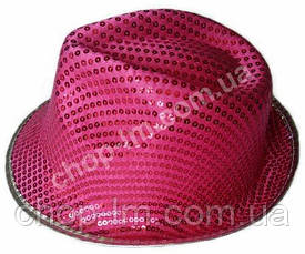 "Шляпа ""Диско"" с пайетками (розовая, взрослая), фото 3"