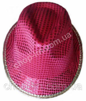 "Шляпа ""Диско"" с пайетками (розовая, взрослая), фото 2"