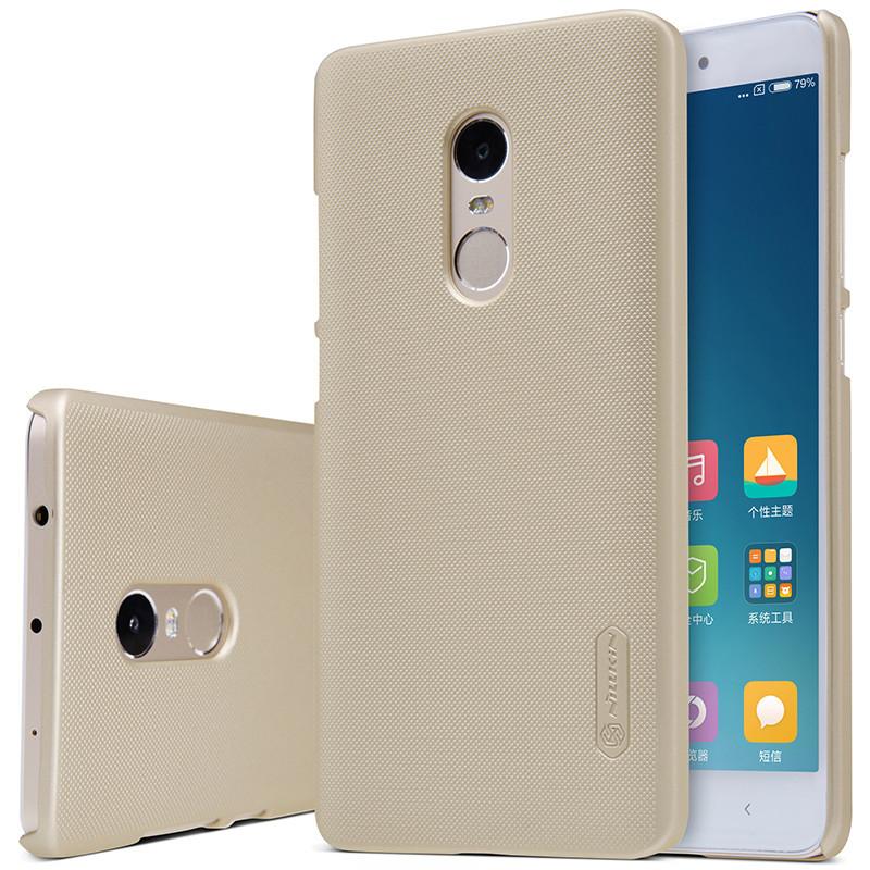 Nillkin XIAOMI Redmi Note 4 (MTK) Super Frosted Shield Gold Чехол Накладка Бампер
