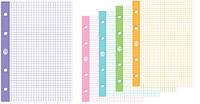 Сменный блок для регистратора,  формат А -4, 50 листов, клетка,  цветные поля. Упаковка 5 шт
