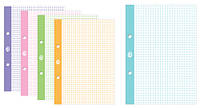 Сменный блок для регистратора,  формат А -5, 50 листов, клетка,  цветные поля