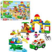 """Конструктор """"Зоопарк"""" 5029 JDLT (72 детали,тип Lego Duplo)"""