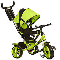 Велосипед M 3113-4 три кол.EVA (11/9),колясочный,своб.ход колеса,тормоз,подшипн.,зеленый