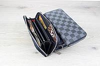 Мужской кошелек Louis Vuitton Zippy Vertical Silver